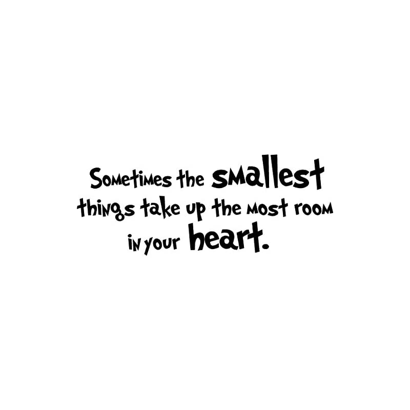 crib bedding and baby bedding #2 sometimes the smallest things take up the most room in your heart. cute nursery wall vinyl decal quote art saying sticker stencil decor