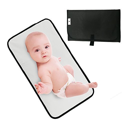 Travel Changing Pad, Portable Changing Pad,Diaper Changing Pad for Baby Waterproof and Lightweight (Black)