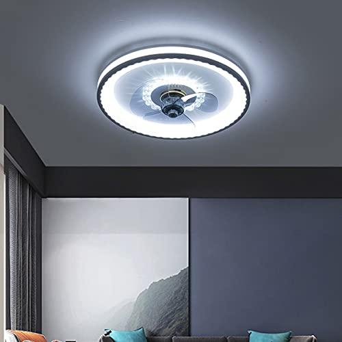LáMpara Ventilador Techo Moderno Luz de Ventilador Regulable con Mando a Distancia,Velocidad del Viento Ajustable Luces Ventilador Techo LED para Cuarto Sala 48 * 48 * 7.2CM