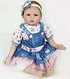 HRYEOY Reborn Muñeca Silicona Reales Muñecas Reborn Baby Girl 22 Pulgadas 55 cm Suave Reborn Niña Realista de Muñeca Bebé Regalo de Cumpleaños