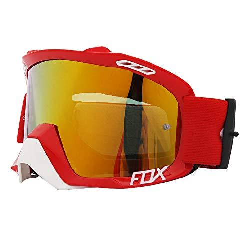 TTPF Außenreit Skibrille Windschutzscheibe PC-Objektiv Augenschutz Windproof sandgeschützt staubdicht für Anti-Rutsch-Gurt für festen Helm