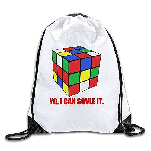 Dutars I Can Solve It Rubix Cube Rucksack, 100% Polyesterfaser, mit Kordelzug, Einheitsgröße