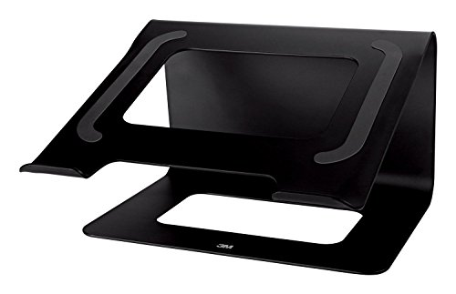 3M Laptop Stand, Raise Screen Height to Reduce Neck Strain, Steel Construction with Bumpon Protective Product Keeps Laptop Secure, Holds Laptops Up to 15', 10 lbs, Storage Underneath, Black (LS85B)