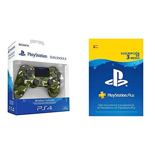 Sony - Dualshock 4 V2 Mando Inalámbrico, Color Verde Camuflaje (PS4) +...