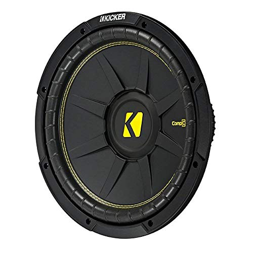 Kicker 12 Inch CompC 300 Watt RMS 4 Ohm Single Voice Coil Subwoofer | 44CWCS124