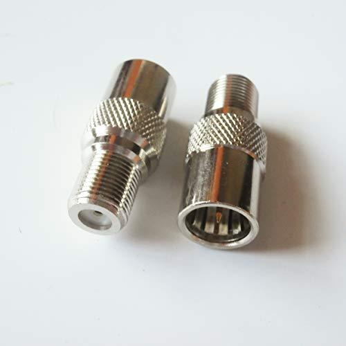 JIAHONG Conectores de Cable de Alambre de 1 PCS F Macho con metralla a F Hembra Push-On Slide-On Rápido Conector de RF Video Conector Coaxial para Antena TV-Sintonizador (Package : 49 99 pcs)