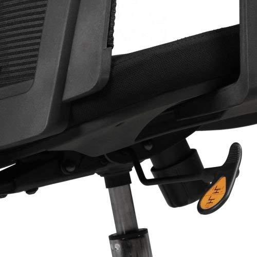 AMSTYLE Bürostuhl BASELINE Bezug Stoff Schwarz Schreibtischstuhl höhenverstellbar Design 120 kg Chefsessel Synchronmechanik ergonomisch Drehstuhl hohe Rücken-Lehne mit Armlehnen X-XL Hochlehner ergo
