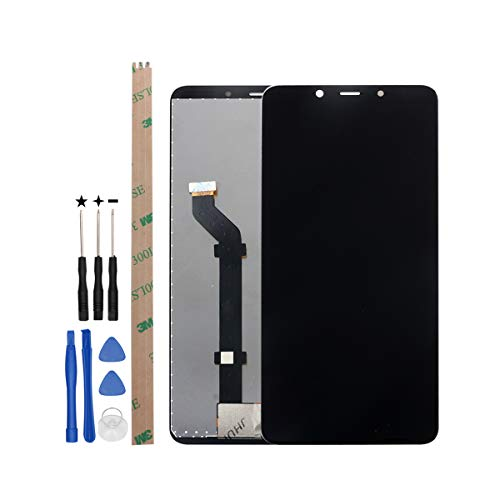 "YHX-OU 6.0"" per Nokia 3.1 Plus TA-1118 2018 di Riparazione e Sostituzione LCD Display Touch Screen Digitizer con Utensili Inclusi (Nero)"
