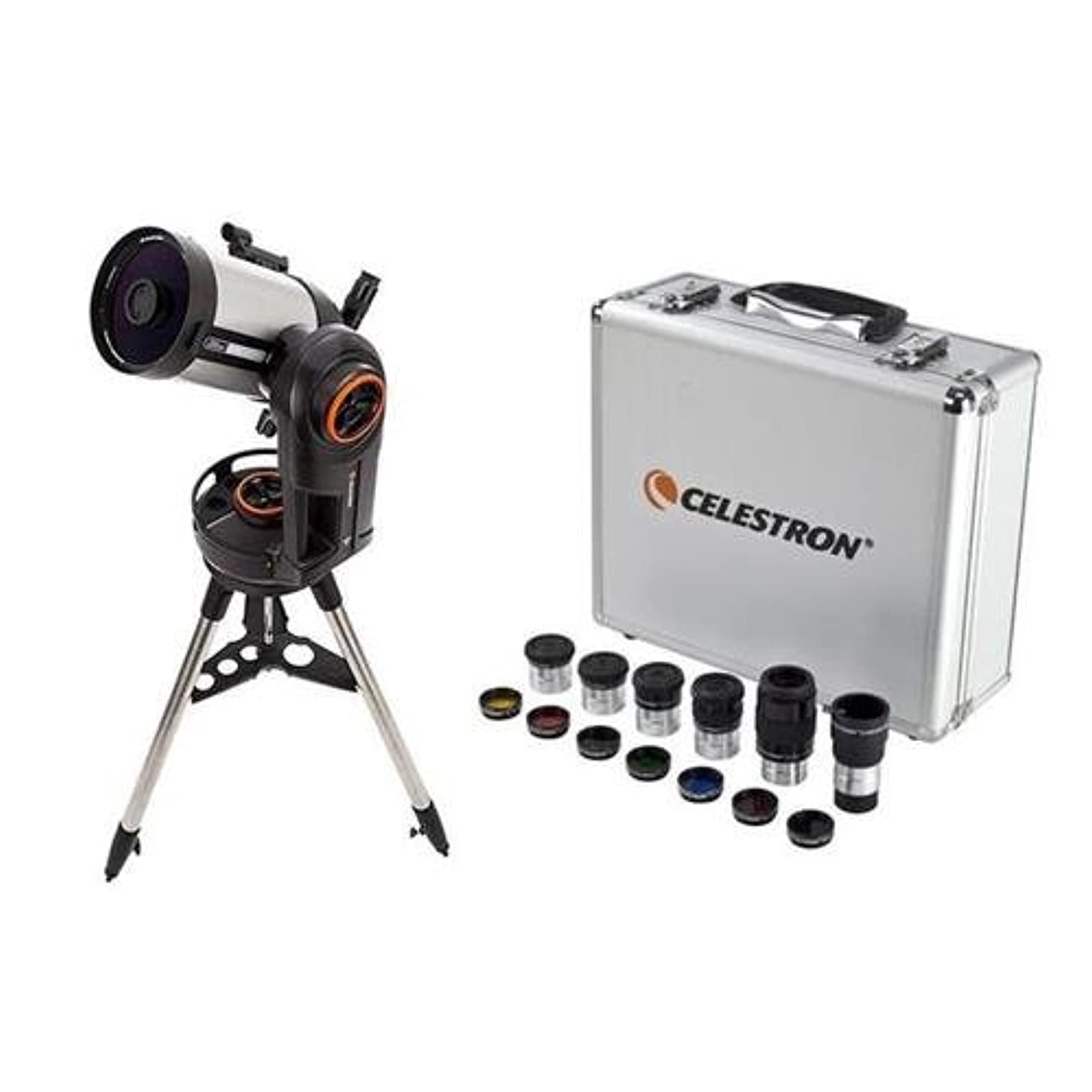 Celestron NexStar Evolution 6, Schmidt-Cassegrain Telescope with Integrated WiFi - with Deluxe Accessory Kit (5 Plossl Eyepieces, 1.25in Barlow Lens, 1.25in Filter Set, Accessory Carry Case