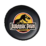 J-urassic Park Logo Tough Tire Covers,Fit for SUV,Jeep,RV,Trailer,Waterproof Dust-Proof PVC Leather Tire Covers
