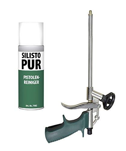 silisto Kit PU de pistolet type slim + 500 ml Mousse de nettoyage PU