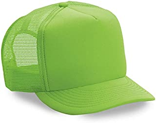 neon green trucker hat