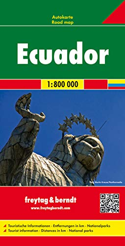 Ecuador, Autokarte 1:800.000: Touristische Informatione / Entfernungen in km / Nationalparks (freytag & berndt Auto + Freizeitkarten)