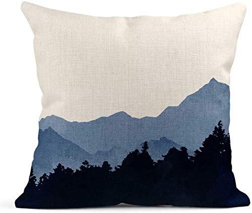 Running-sun Fundas de almohada de poliéster para decoración del hogar, funda de almohada cuadrada de 45,7 x 45,7 cm, funda de almohada decorativa con signos de flores silvestres