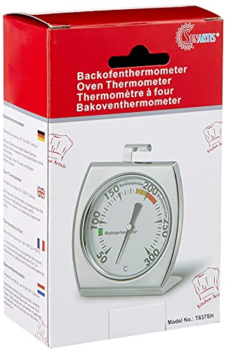 Sunartis T837H Ofenthermometer Edelstahl ca. 7 x 8 cm