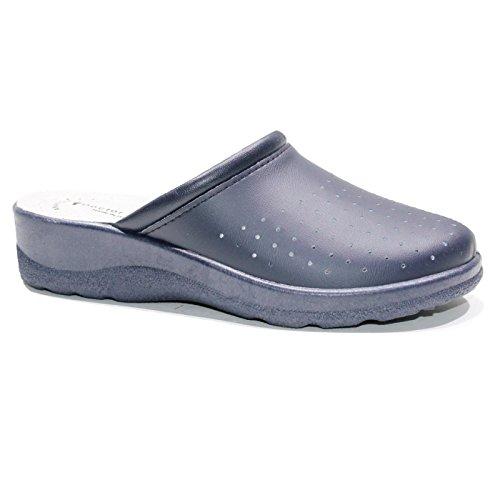 gibol Pantofole Ciabatte SANITARIE Infermiere Dottore Uomo Blu (43)