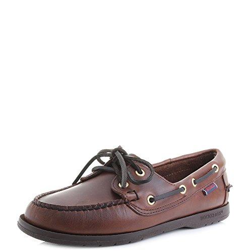 Womens Sebago Bala Suede FGL Beige Taupe White Deck Shoes Size