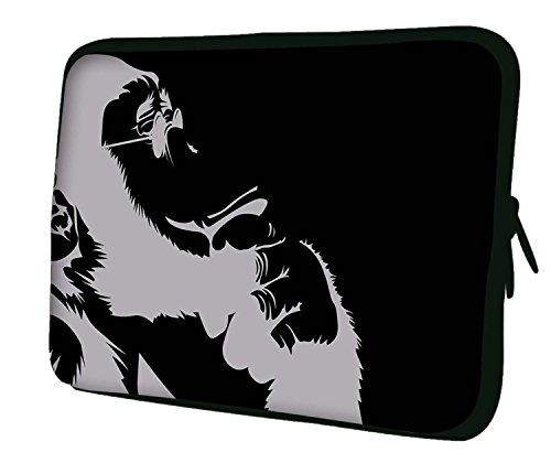 Notebook-Tasche mit Tragegriff & Schultergurt für Apple MacBook Air, MacBook Pro, MacBook Pro Retina, MacBook Aluminum, Unibody, iBook G3 G4, PowerBook mehrfarbig Darwins Grandfather 13