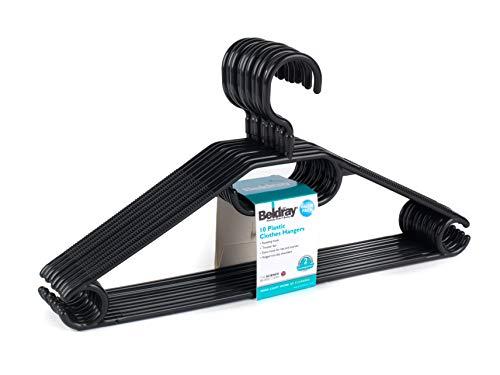 Beldray® LA050779BLK Kleiderbügel aus Kunststoff, 10er-Pack, schwarz