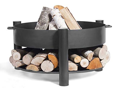 Feuerschale Montana Ø 80 cm Feuerstelle für Garten aus Stahl Feuerkorb als Wärmequelle oder Grill CookKing