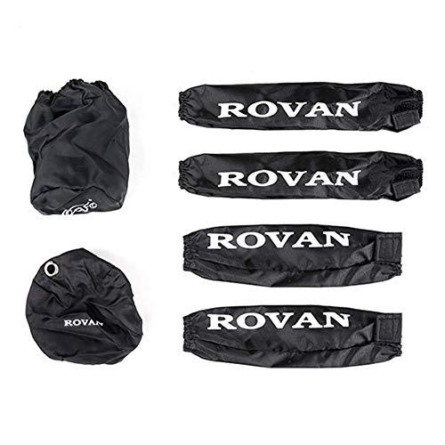 El juego de polvo RC contiene la cubierta del arrancador de tiro, la cubierta del filtro de aire, las cubiertas de choque para 1/5 HPI LOSI Baja LT 5B, piezas de control remoto, color negro