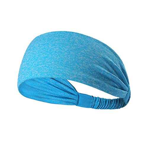 Dames Sport Yoga Haarband Anti-transpirant Tulband Sneldrogend Zweetband Haarband Running Fitness Hoofdband (meerblauw)