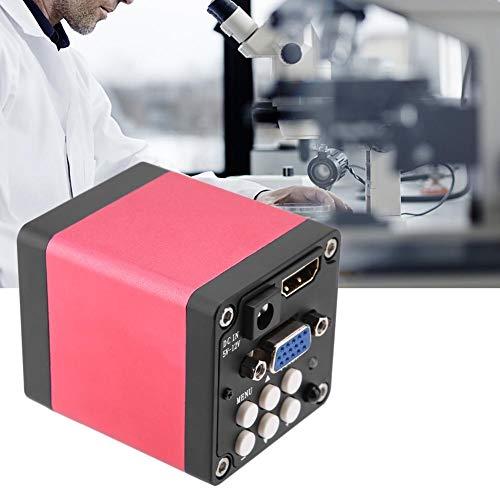 Disfrute de Verano Cámara de microscopio Industrial Digital, KP-200D 12MP 60F/S Cámara de microscopio Industrial de Salida HDMI Negra para Usted(EU Plug)