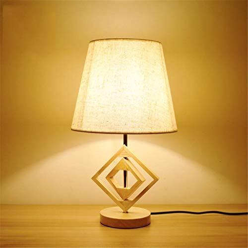 XZhstes Sólido Dormitorio De La Lámpara De Noche De Madera Lámpara De Escritorio Moderna Lámpara De Madera Retro Creativo Estudio De Hotel