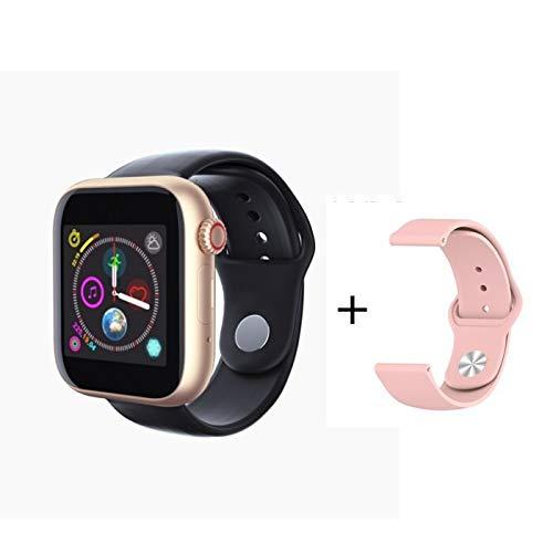 QWERTYU LIFUQIANGME 2020 Nieuwe Slimme Horloge SIM-kaart Bluetooth Ios Android Horloge Telefoon Horloges Kamera Muziekspeler Sport Smartwatch Iwo 10 12 pk F10 (Grootte : Add 8G Card, Kleur : Gold)