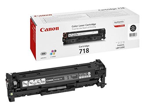 Canon 718 Bk Cartucho de toner original Negro para Impresora Laser Isensys