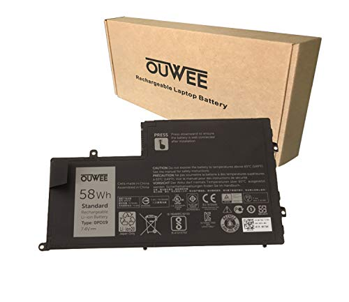 OUWEE OPD19 Laptop Battery Compatible with Dell Inspiron 14 5442 5443 5445 5447 5448 5457 15 5542 5543 5545 5547 5548 5557 Latitude 3450 3550 Series TRHFF 0DFVYN 5MD4V 86JK8 DFVYN 7.4V 58Wh 7600mAh