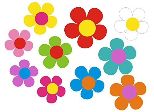 Autocollant pour voiture, Design?: Mini 09?51 Pièces ? Mélange multicolore de fleurs.