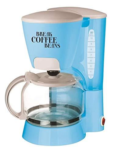 Team Kalorik TKG CM 1021 BL Design-Kaffeeautomat 1,25 Liter mit Glaskanne, Metall, Glas, Kunststoff, 1.25 liters, Aqua