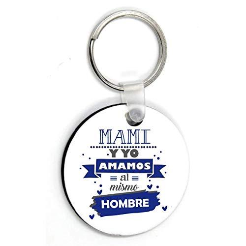 Kembilove Llavero Personalizado para Padre – Llavero Redondo Mami y yo Amamos...