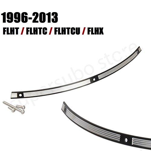 Parabrezza nero per parabrezza in acciaio inox per Harley FLH Batwing 96-13