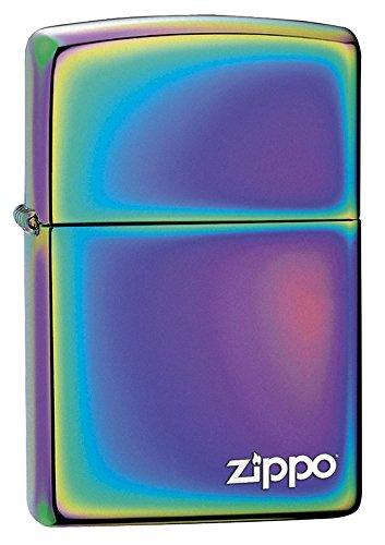 Zippo PVD Multi Color con Logo, Accendino Antivento, Ricaricabile a Benzina Unisex-Adulto, Multicolor, Regular 5.7 x 3.7 x 1.2 cm