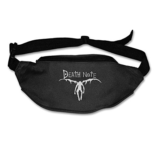 TeriDDeas Death Note Logo Unisex Best Combo Fanny Pack Waist Bag Phone Holder Adjustable Running Belt for Cycling,Hiking,Gym