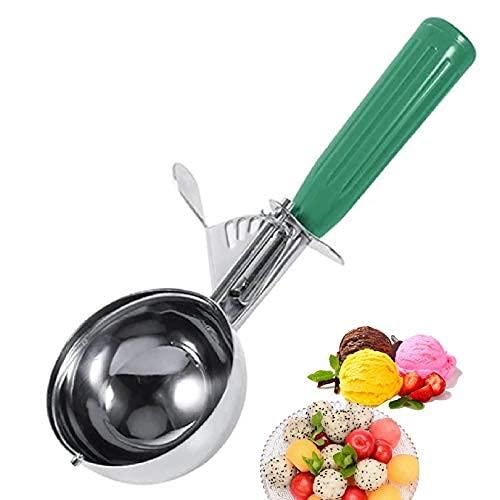 # 12 (2-2/3 onzas) acero inoxidable helado cuchara, cuchara de helado de acero inoxidable con gatillo incluyendo..