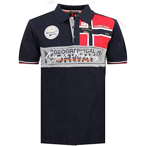 Geographical Norway Kidney - Herren Baumwolle Fit Polo-Shirt - Polo Regular Slim - Kragenform Oberen Hochwertige- Qualität Casual T-Shirt - Original Geschenk für Männer (Marine M)