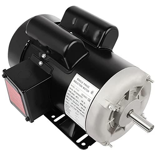 5HP Air Compressor Motor 3450 RPM Electric Motor, Single Phase 56 Frame 208-230V 5/8' Shaft 60Hz CW/CCW,TEFC