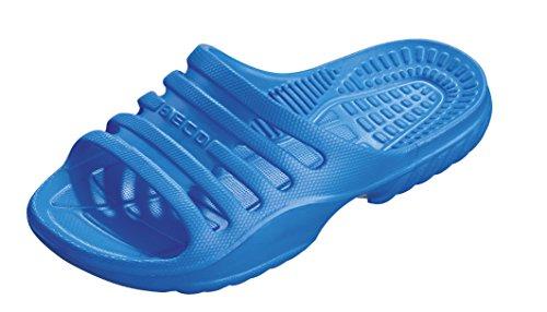 BECO Kinder Badepantolette / Badeschuh / Badelatschen blau 35