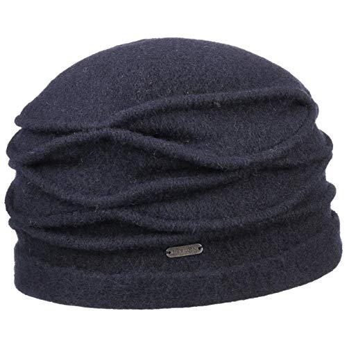 McBURN McBurn Kamita Walkmütze Wintermütze Damenmütze Damen - Made in Italy Walkhut Herbst-Winter - One Size blau