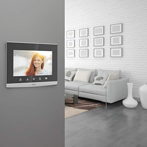EXTEL 720309 - Videoportero con Cable (7 Pulgadas, 18 cm, con Teclado de código Integrado, Color Gris, 18 cm)