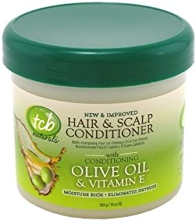 Tcb Naturals Hair & Scalp Cond Olive Oil & Vitamin-E 10oz Jar (3 Pack)