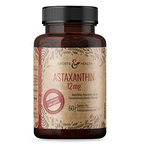 Astaxanthin 12 mg Depot Kapseln - 4 Monatsvorrat - 60 Gel Caps - inkl. Nachweisanalyse in den Produktbildern