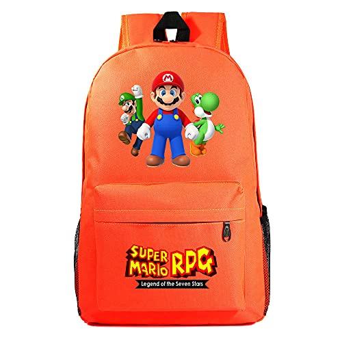 Super Mario Bros. Mochila escolar para niños y niñas, mochila de viaje para ordenador, Mario1. (Negro) - DSFDSFGG