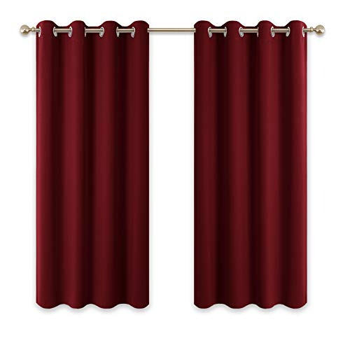 cortinas habitacion juvenil rojo