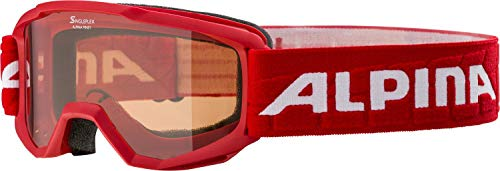 ALPINA PINEY Skibrille, Kinder, red, one size