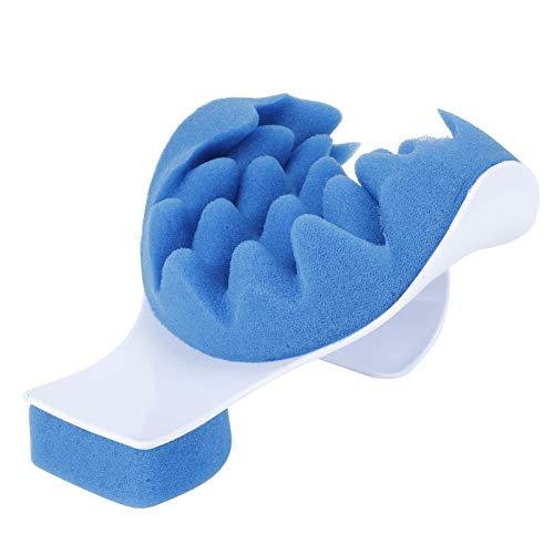 Almohada de soporte para el cuello, almohada de masaje ajustable para dormir con dolor de cuello