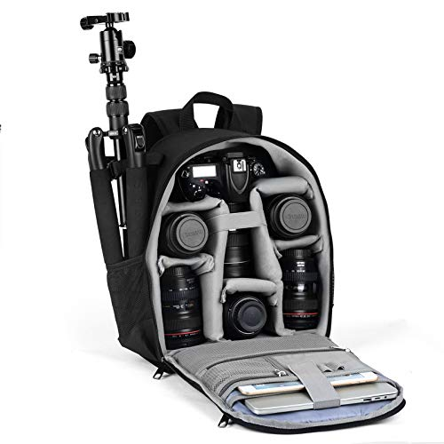 VBG VBIGER Camera Backpack Camera Case Waterproof Camera Bags with Rain Cover Tripod Holder for Women and Men